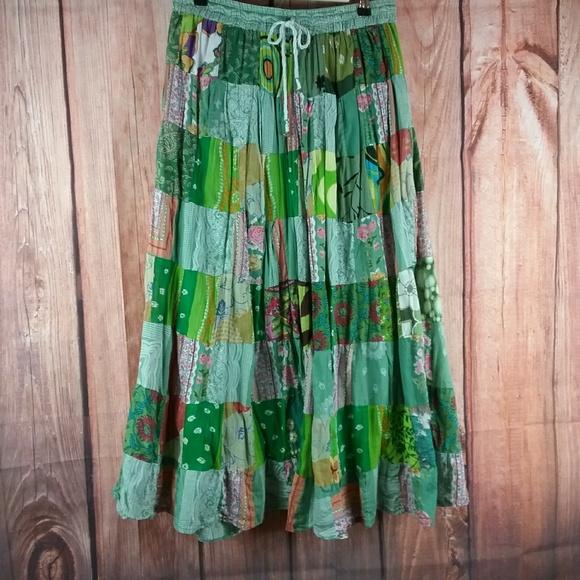 e075dc430b No Brand Skirts | Not For Sale Patchwork Hippie Maxi Skirt | Poshmark
